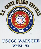 USCGC WAESCHE  WMSL-751* CUTTER U.S.COAST GUARD VETERAN EMBLEM*SHIRT