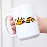 Cute Sleepy Lazy Giraffe Cartoon Coffee Mug Tea Cup Novelty Gift Mugs