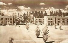 Unposted 1940s Real Photo Postcard Univ of Oregon Eugene OR Smith's Scenic Views