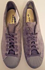New ADIDAS Originals SUPERSTAR 80's CLEAN Men's 12 Shoes Gray Suede Sneakers