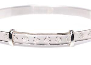 925 Silver Teddy Baby Bangle Christening Bracelet Kids Jewellery Gift