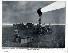 Beobachter u.Telegraphist mit Suchscheinwerfer Historische Aufnahme von 1915