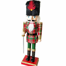 "Scotland Wooden Nutcracker Soldiers Walnut Home Decoration Ornament 15.7"" Height"