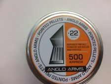 Anglo Arms 500 x .22 'Pointed' Air Rifle Pellets, hunting, gun, vermin control