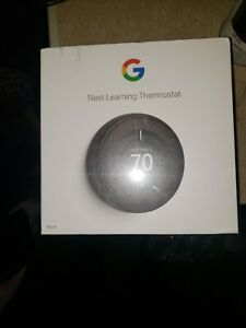 Nest Black 3rd Generation Learning Thermostat T3016US