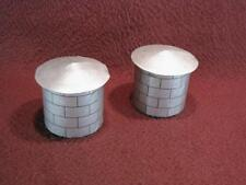HO SCALE 2 CUSTOM WATER TOWER/OIL STORAGE SECTIONS - SILVER - CARDBOARD