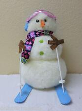 NWT Boyds Bears Plush DUDE Snowman Winter Ski #4041849 With Poles, Skis & Scarf