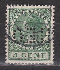 NVPH Nederland Netherlands nr 177 used PERFIN H.E.O. Wilhelmina 1926 Pays Bas