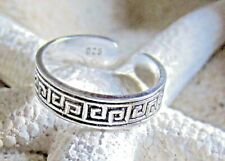 TOE RING STERLING SILVER 925 ADJUSTABLE SOLID BAND MIDI PINKY BEACH womens surf