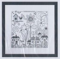 Carre - fun one colour cross stitch chart - Jardin Prive
