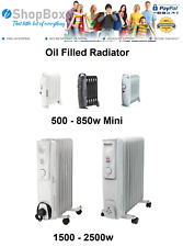Oil Filled Radiator Portable Electric Heater Thermostat 5 to 11 Fin Home Office