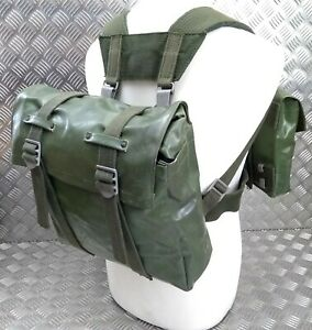 Genuine Vintage Army Issue Heavy-duty Backpack Belt Harness & Pouch Set PVC