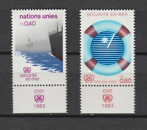 S10773) United Nations (Geneve) MNH 1983, Safety at Sea 2v+ Lab