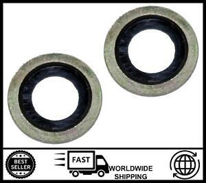 Oil drain washer Plug ring x2 FOR Peugeot 2008,307,407,508, Expert, Bipper Tepee