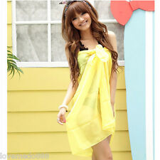 NEW SEXY Ladies Chiffon Pareo Dress Sarong Wrap Beach Cover-Up Swimsuit Scarf