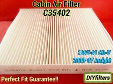 C35402 AC CABIN AIR FILTER CRV CR-V 1997-01 & Insight 2000-07