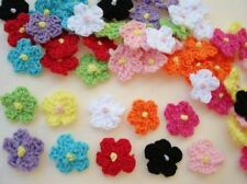 100 Crochet Small Daisy 16mm Flower 10 Color Mix/applique/knitting/kni t/yarn C21
