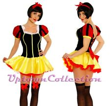 Ladies Princess Snow White Deluxe Fancy Dress Costume Halloween Fairy Tale