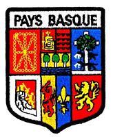 Patch ecusson brodé PAYS BASQUE EUSKADI herria   Blason armoirie drapeau region