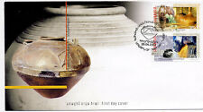 Armenia 2002 First Day Cover Ancient Artifacts #650-51 Antique Pot Cachet Archae