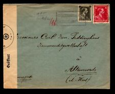 Belgium 1940s Censor Cover to Germany - L10961