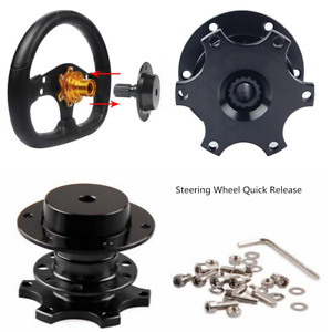 Universal Racing Car Steering Wheel Quick Release Hub Adapter Snap Off Boss Kit