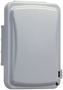 TayMac Weatherproof Single Outlet Outdoor Receptacle Cover, 5/8 Inches Deep,Grey