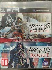 Assassin's Creed IV Black Flag & Rogue Doble Pack PlayStation 3 Ps3 completo en