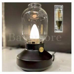 IKEA TÄRNABY Table lamp Black Inspired by old kerosene lamps W/LED BULB Dimmable
