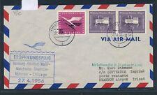 12166) LH FF Hamburg  - Shannon Irland 27.4.56, Brief
