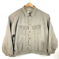 Wrangler Rugged Wear Denim Jacket Coat Grey Inside Pockets Mens Size 6X