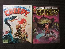1979 CREEPY Warren Horror Magazine LOT of 2 Issues #105 FVF 106 VF- Jim Starlin