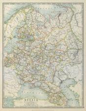 EUROPEAN RUSSIA. 1812 Napoleonic battlefields are marked. JOHNSTON 1915 map