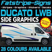 FIAT DUCATO L3 LWB grafica Adesivi Decalcomanie Strisce Giorno Van Camper Camper