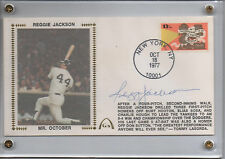 Reggie Jackson Signed 1977 Mr. October Gateway Cachet FDC First Day Cover