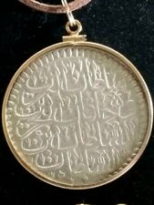 Large Kurush Silver 1106 Authentic Ottoman 36mm Coin GoldFilled Pendant Necklace