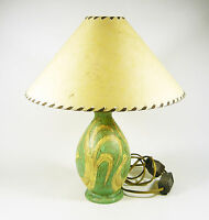 "GORKA LIVIA, TABLE LAMP WITH BIRDS 14"", WORKING ORDER 1950'S ART POTTERY! (G030)"