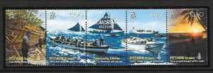 PITCAIRN ISL Sc 669 NH issue of 2008 - STRIP - SHIPS