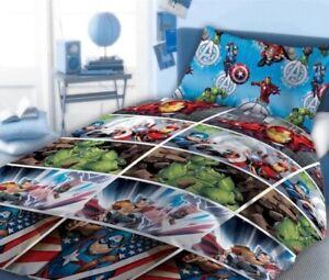 Marvels Avengers 060 Single Bedding Duvet Cover Set Quilt Cover Bed Sheet Comic