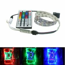 1/2m RGB led Strip light pc case 12V Background PC Computer Molex Connector 4Pin