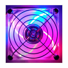 80x80x25mm 4 Color LED fan (B,G,R,Y) w/ Fan Guard