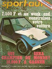 SPORT AUTO 133 1973 RALLYE DE MONTE CARLO ESSAI OPEL COMMODORE GS/E FIAT X1/9