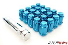 JAPAN RACING Stahl Lug Nuts M12 x 1.5 Radmuttern BLAU 20 Stück