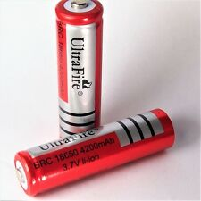 6 x Ultra Fire BRC 4200 mAh Lithium Ionen Akku 3,7 V 18650 Li  - ion 65 x 18 mm