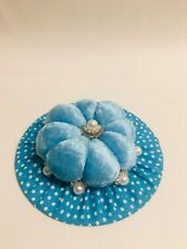 Handmade Whimsical Dainty Hat Design Pin Cushion: Design 4