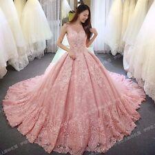 New  Pink Wedding dress Bridal Gown custom size 6-8-10-12-14-16-18+