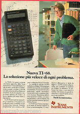 ▬►Pubblicità Advertising Werbung 1990 TEXAS INSTRUMENTS Calcolatrice TI-68