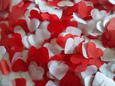 3500 Red and White Tissue Hearts/Wedding Confetti/Celebration//Party/ Decoration