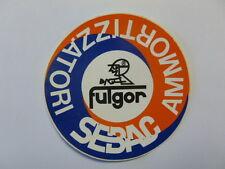 VECCHIO ADESIVO ORIGINALE / Old Sticker FULGOR SEBAC AMMORTIZZATORI (cm 10)