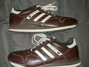 ADIDAS ZX500 BROWN LEATHER SNEAKERS  SIZE 13 MEN